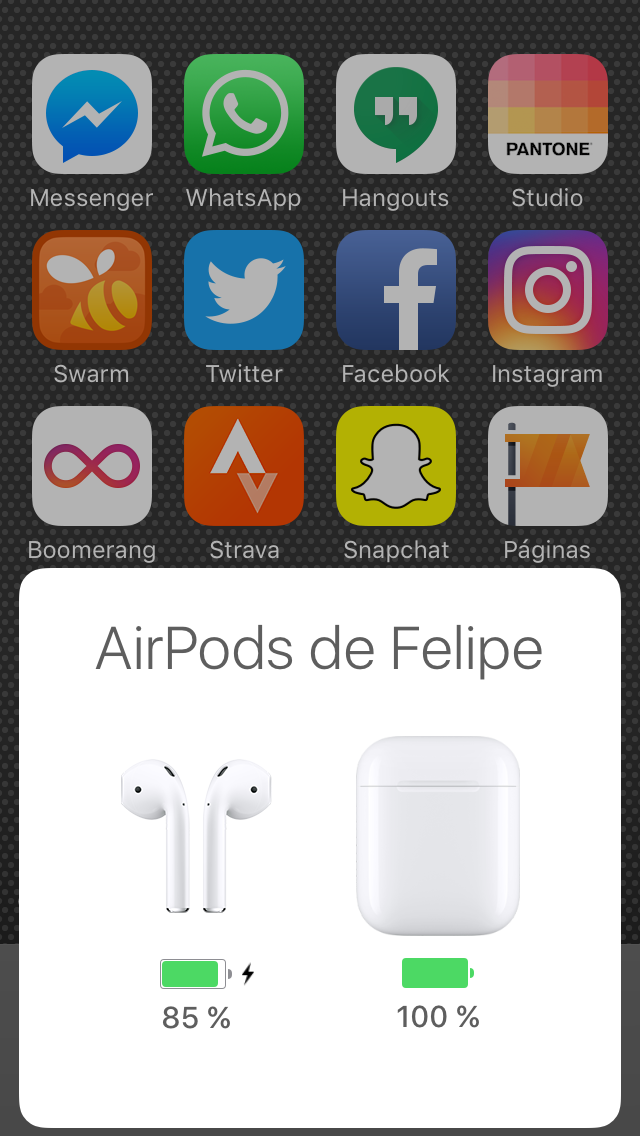 Activación AirPods por Bluetooth