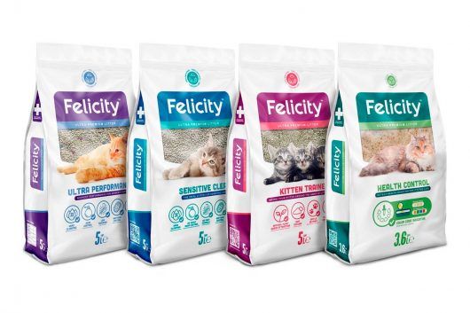 Felicity Ultra Premium Litter nueva línea de Arena Sanitaria para Gatos